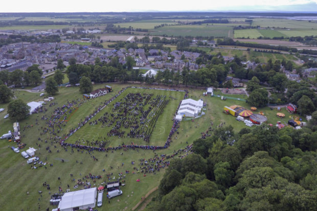 Grant Park in Forres from the air
